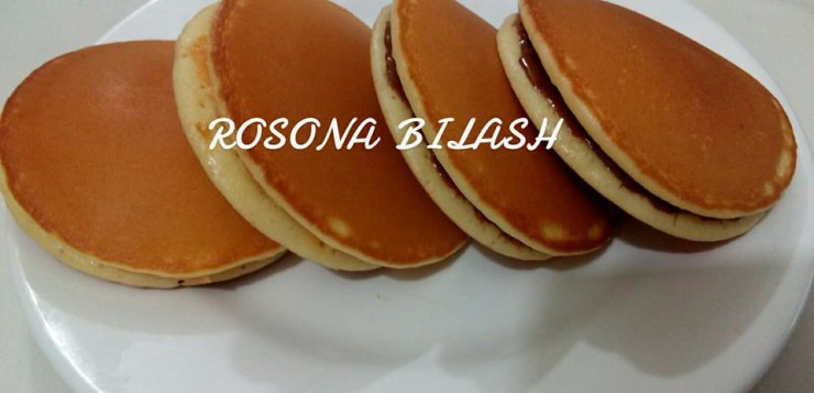 Japanese Dora Cake Recipe: ডোরা কেক /(Japanese Dorayaki) With Nutella